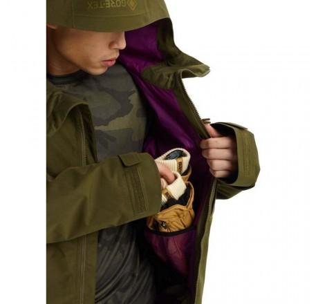 Burton Gore Radial Jacket Slim giacca snowboard da uomo in Gore-Tex dettaglio tasca