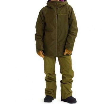 Burton Gore Radial Jacket Slim giacca snowboard da uomo in Gore-Tex verde