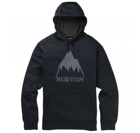 Burton Oak Pullover Hoodie felpa tecnica con cappuccio e logo frontale da uomo