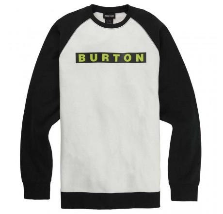 Burton Vault Crew Sweatshirt felpa da uomo girocollo con logo frontale