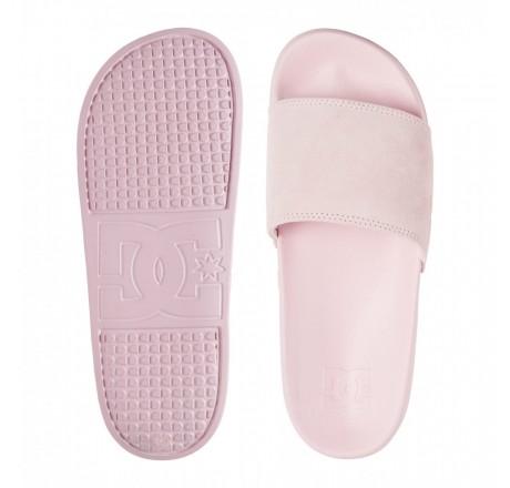 Dc Shoes Slide Se ciabatte in camoscio da donna con fascia rosa