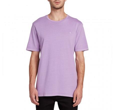 Volcom Solid Stone t-shirt a manica corta da uomo viola con logo ricamato